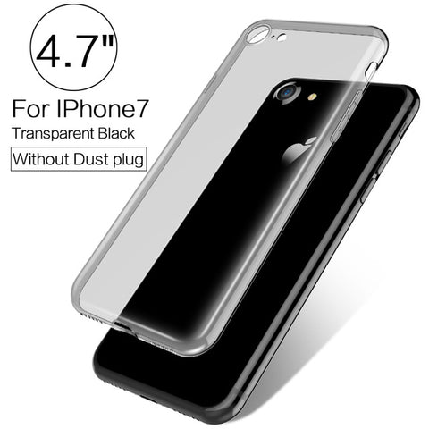 8304effbf2 ... PZOZ Luxury Brand TPU Silicon Slim Clear 360 Transparent Silicone Case  Cover For Apple iPhone 7 ...