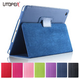 Matte Litchi Surface Flip PU Leather Case for apple Ipad Mini 1 2 3 with Retina Smart Stand Magnetic Sleep Wake UP Pouch Cover