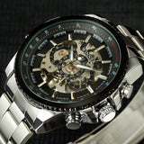 Winner Skeleton Mechanical Watch Luxury Men Black Waterproof Fashion Casual Military Brand Sports Watches Relogios Masculino