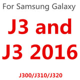 9H Tempered Glass Cover coque For Samsung Galaxy J1 mini J2 J3 J5 J7 prime 2015 2016 2017 Case Cases Fundas J500 J310F J510F