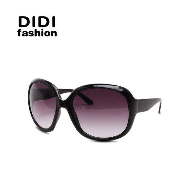 DIDI Europe Oversized Sunglasses Women Beige Leopard White Frame Gradient Lens Eyewear Big Shield Retro