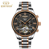 Skeleton Automatic Watch Men Waterproof Flying Tourbillon Mechanical Watches Mens Self Winding Watch