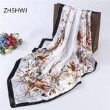 ZHSHWJ] Free Shipping 90 * 90CM Fashion Women's Scarves Bandana Anti-Silk Hijab Women's Decorative Shawl Gorgeous silk scarf