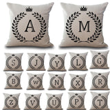 Crown Letters 45x45cm Cotton Linen Throw Pillow Cushion Cover Car Home Decoration Sofa Decor Decorative Pillowcase