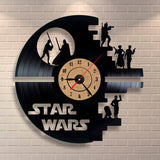 Fashion Creative Clock CD Vinyl Record Wall Clock Film STAR WARS Theme Home Decor 3D Hanging Watches Home Decoration