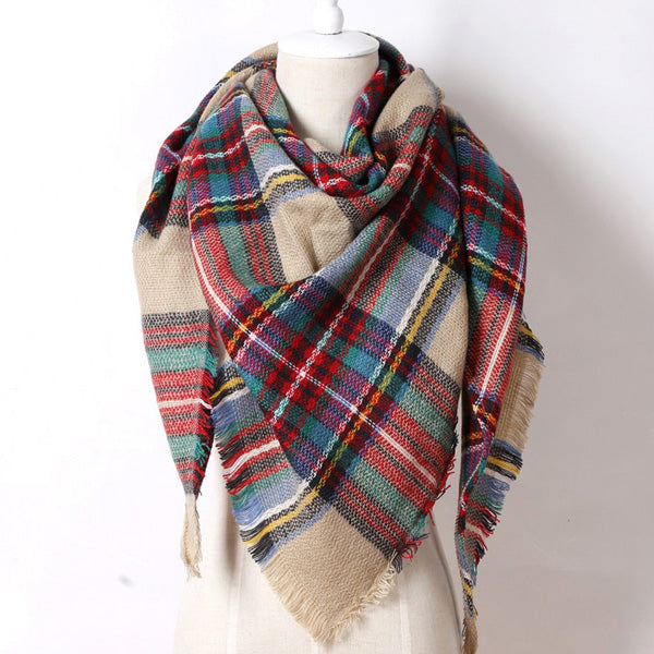 Winter Brand Women Cashmere Triangle Scarf  Fashion Warm in Winter Shawl Wool Blanket Scarves