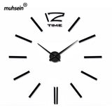 Wall Clock Fashion 3D wall clock Mirror wall sticker Clock needle wall clock modern design