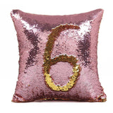 Reversible Sequin Mermaid decorative pillowcase square Sequin Pillow Magical Color Changing Throw pillows sofa home decor