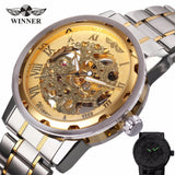 olden Watches Men Skeleton Mechanical Watch Stainless Steel Strap Top Brand Luxury Man Wristwatch Montre Homme 17 COLORs