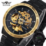 Winner Luxury Sport Clock Men Automatic Watch Skeleton Military Mechanical Watch Mens Wristwatch