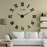 Fashion Big Size Wall Clock Mirror Sticker  Wall Clocks Home Decoration Wall Clocks  Room Wall Watch