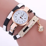 Women's Watches Fashion Leather Pendant Bracelet Ladies Watch