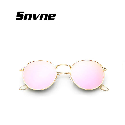 Retro round sunglasses women men brand designer sun glasses Alloy mirror sunglasses