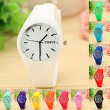 Children watches Girl or Boy Leisure Sports Clock Candy colored Jelly Watch Silicone Strap