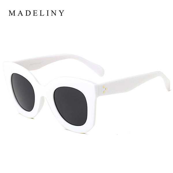 MADELINY Fashion Cat Eye Sunglasses Women Brand Designer Vintage Gradient Cat Eye Sun Glasses Shades For Women UV400