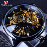 Forsining Fashion Luxury Thin Case Neutral Design Waterproof Mens Dial Watches Top Brand Luxury Mechanical Skeleton Watch