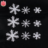 100Pcs Artificial Flannelette White Snow Flowers Winter New Year Christmas Snowflakes Kids Bedroom Wall Stickers Home Decoration