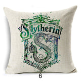 Harry Potter Cushion Cover Cotton Linen Goblet of Fire The Deathly Hallows Home Decorative Pillow Cover for Sofa