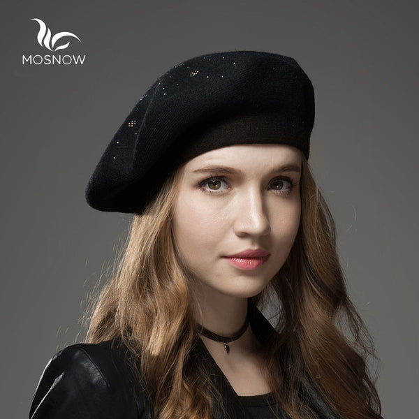 1e16584c41d Winter Hat Berets Wool Cashmere Womens Warm Brand Casual High Quality –  Luxberra