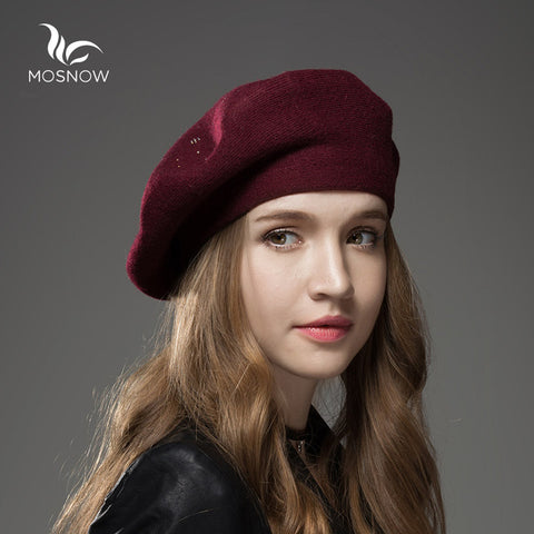 47f36fdbee25 ... Winter Hat Berets Wool Cashmere Womens Warm Brand Casual High Quality  Women s Vogue Knitted Hats For ...