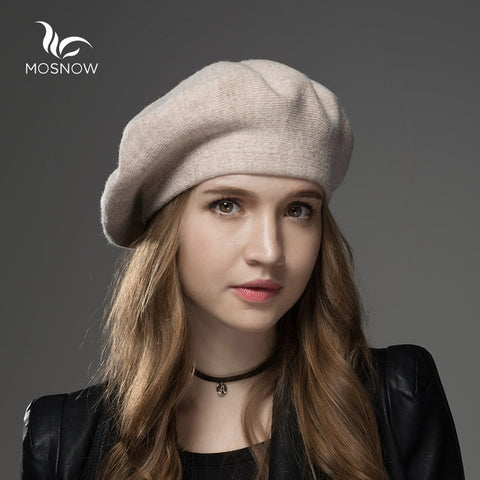 871750bfe23 ... Winter Hat Berets Wool Cashmere Womens Warm Brand Casual High Quality  Women s Vogue Knitted Hats For ...