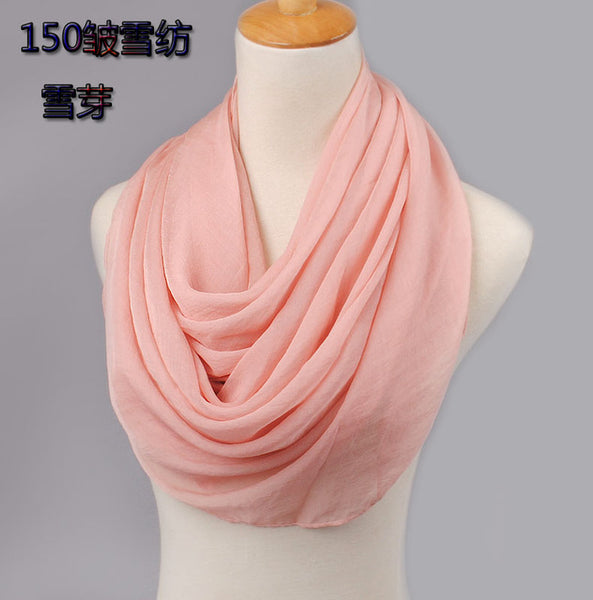 Women's silk scarf spring and autumn solid color beach scarf bikini cape cover up Scarves