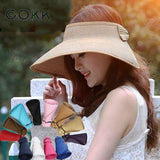 Summer Visors Cap Foldable Wide Large Brim Sun Hat Beach Hats for Women Straw Hat