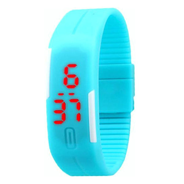 Candy Color Men's or Women's Watch Rubber LED Watch Date Bracelet Digital Sports Wristwatch
