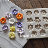Yueyue Sugarcraft 1 piece Flower silicone  mold fondant mold cake decorating tools chocolate gumpaste mold