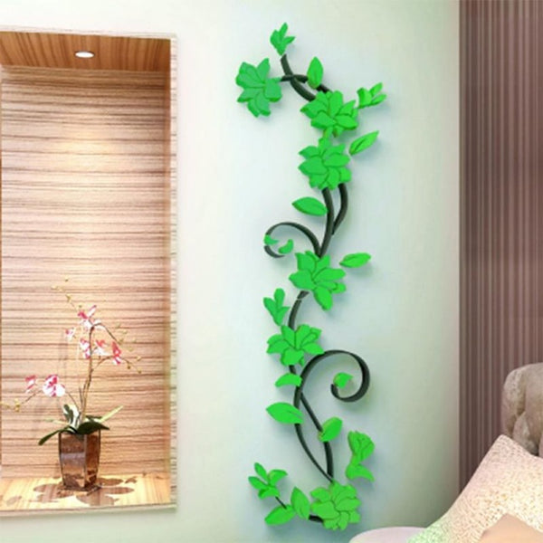 3d diy vase flower tree removable art vinyl wall stickers decal