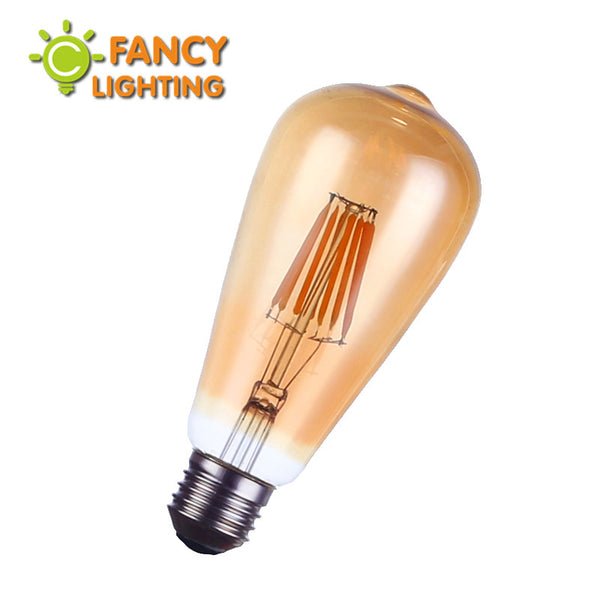 Vintage LED Edison Filament bulb Golden led dimmable ST64 2W 4W 6W 8W E27 110V/220V energy saving lamp replace incandescent bulb