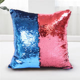 BeddingOutlet Mermaid Sequin Cushion Cover Magical Shining Pillow Case Patchwork Decorative Pillowcase Sofa Car Fashion 40X40cm