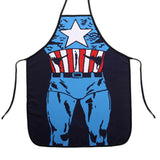 Funny sexy Apron superhero Superman Captain America 3D Printed cute waist waterproof chef  BBQ Kitchen Cooking women men Aprons