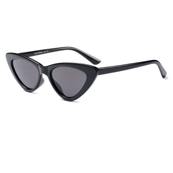 a83c579471c Molniya cute sexy retro cat eye sunglasses women small black white tri –  Luxberra