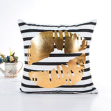 Square Polyester Throw Pillow Case Bronzing Decorative Pillows For Sofa Seat Cushion Cover Home Decor