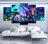 Canvas Wall Art Modular Pictures Home Decor 5 Pieces Rick And Morty Paintings Living Room HD Printed Animation Posters Framework