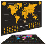 World Map Personalized Vintage Travel World Map Poster Sticker Vacation National geographic Retro maps