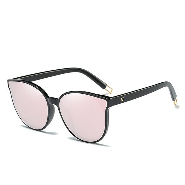 Fashion Women Color Luxury Flat Top Cat Eye Sunglasses Elegant Twin Beam oversized Sun glasses  UV400