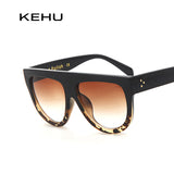 Woman Flat Top Oversized Sun Glasses Cat Eye Sunglasses Brand Designer