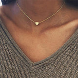 H26 Free Fashion Heart Leaf Moon Pendant Necklace Crystal Necklace Women Holiday Beach Statement Jewelry