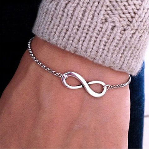 Fashion Pulseras Bijoux Women 8 Infinity Bracelet For Men Jewelry Girl Gift Charm Bracelets Bangles