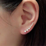 Womens Rhinestone Crystal Earrings Ear Hook Stud Jewelry