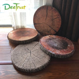Creative 3D Pillow Stump Round Chair Seat Cushion Sofa Throw Pillow