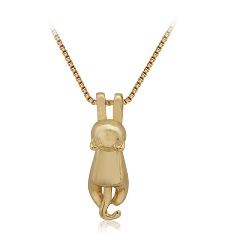 Tiny Cute Cats Pendant Necklaces Kitty Chain Necklace Fashion Gift Jewelry for Women