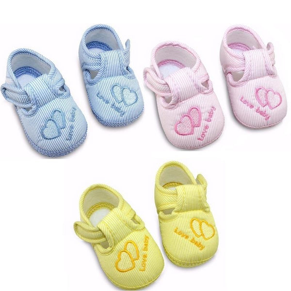 Cotton  Baby Shoes Toddler Soft Sole Skid-proof First Walkers Kids infant Shoes 3 Colors