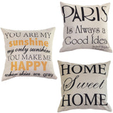 """You are my Sunshine ""Cotton Linen Leaning Cushion Throw Pillow Covers Pillowslip Case 45*45 cm"