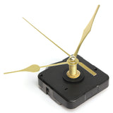 High Quality Gold Hands Quartz Black Wall Clock Movement Mechanism Repair Parts Silent