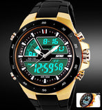 Men Sports Watches Waterproof Fashion Casual Quartz Watch Digital & Analog Military Men's Sports Watches