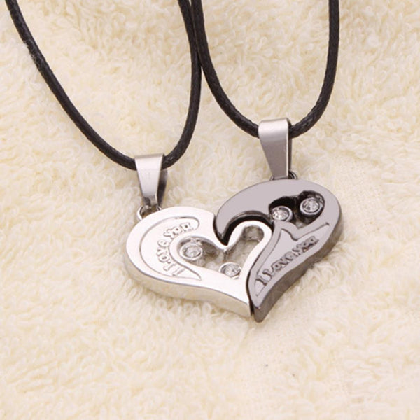 0ee1164d01 Men Women Lover Couple Necklace I Love You Heart Shape Pendant Necklaces  Fashion Jewelry
