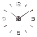 Wall clock quartz living room diy clocks modern design watch Acrylic mirror 3d stickers